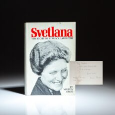 Signed first edition of Svetlana: The Story of Stalin's Daughter, by Martin Ebon.