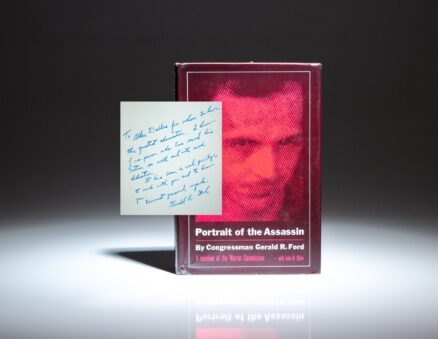 First edition of Portrait of the Assassin, inscribed by Gerald R. Ford to fellow member of the Warren Commission and former Director of the CIA, Allen Dulles.