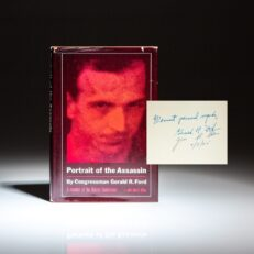 First edition of Portrait of the Assassin, signed by the authors, Gerald R. Ford and John R. Stiles.