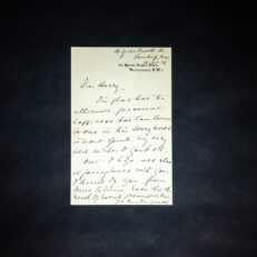 Personalized letter from Felix Frankfurter, dated 1936.