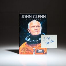 First edition of John Glenn: A Memoir, signed by Senator John Glenn.
