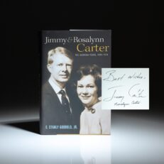 Signed first edition of Jimmy and Rosalynn Carter: The Georgia Years by E. Stanly Godbold, Jr.