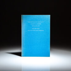 Limited edition of the Inaugural Address of President John F. Kennedy and his first State of the Union Address, from a private printing of 106 copies.