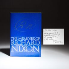 First edition of The Memoirs of Richard Nixon, inscribed by Richard Nixon to the family of Diane Sawyer.