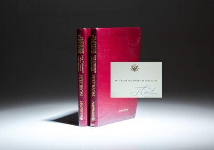 Personal Bibles of President Jimmy Carter and First Lady Rosalynn Carter, titled The Message: New Testament with Psalms and Proverbs by Eugene H. Peterson.