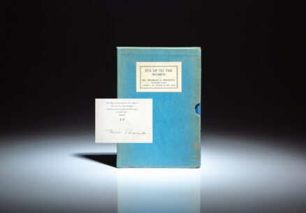 Signed limited edition of It's Up to the Women by First Lady Eleanor Roosevelt, in the scarce publisher's slipcase.