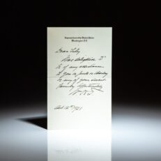 Personalized letter from William Howard Taft, Chief Justice of the Supreme Court, dated October 12th, 1928.