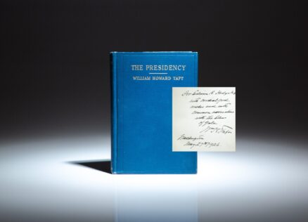 Signed first edition of The Presidency by William Howard Taft, signed while serving as Chief Justice of the Supreme Court.