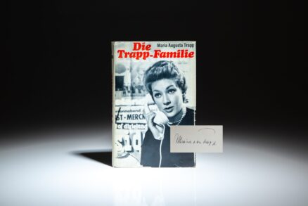 Signed copy of Die Trapp-Familie by Maria Augusta Trapp.