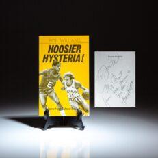 Signed by Coach Bob Knight, Hoosier Hysteria: Indiana High School Basketball by Bob Williams.