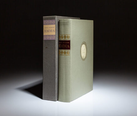 From the Limited Editions Club, Emma by Jane Austen, signed by the illustrator, Fritz Kredel.
