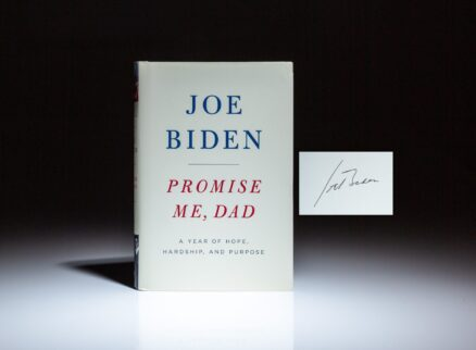 Signed first edition, first printing of Promise Me, Dad by Joe Biden.