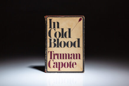 First edition of In Cold Blood by Truman Capote, in the first state dust jacket.