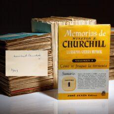 Signed copy of Memorias La Segunda Guerra Mundial [The Second World War], by Winston S. Churchill.