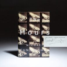 Signed first edition of The Hours, a novel by Michael Cunningham.