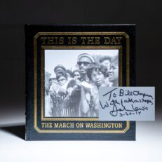 Signed by Congressman John Lewis, This is the Day: The March on Washington, photographed by Leonard Freed.