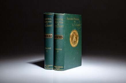 First edition of the Personal Memoirs of U.S. Grant by Ulysses S. Grant.