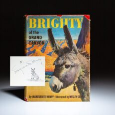 Signed first edition of Brighty of the Grand Canyon by Marguerite Henry.