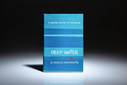 First edition of Deep Water by Patricia Highsmith, in the first state dust jacket.