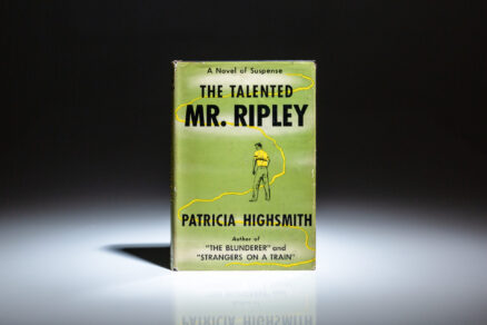 First edition, first printing of The Talented Mr. Ripley by Patricia Highsmith, in the first state dust jacket.
