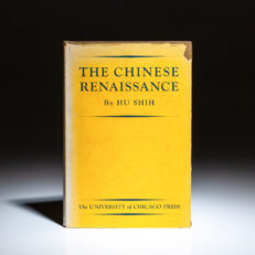 First edition of The Chinese Renaissance by Hu Shih.