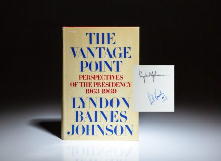 First edition of The Vantage Point by Lyndon B. Johnson, signed by President Johnson and Senator Ted Kennedy.