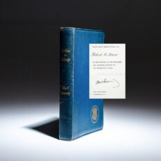 Deluxe inaugural edition of Profiles in Courage by President John F. Kennedy, with secretarial signature.