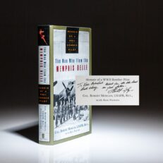 Signed first edition of The Man Who Flew the Memphis Belle, inscribed to Vice President Dick Cheney.