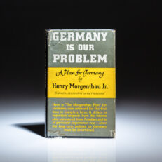 First edition, first printing of Germany Is Our Problem by Secretary of the Treasury, Henry Morgenthau, Jr.