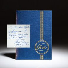 Signed limited edition of The Memoirs of Richard Nixon, inscribed to the previous owners of his Saddle River, New Jersey estate.