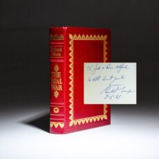 Limited edition of The Real War, signed and inscribed by President Richard Nixon to the previous owners of his Saddle River, New Jersey estate.