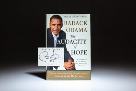 Signed copy of The Audacity of Hope: Thoughts on Reclaiming the American Dream, by Barack Obama.