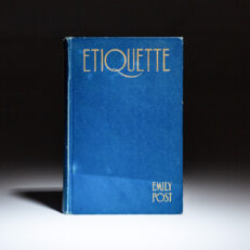 Second printing of Etiquette by Emily Post.
