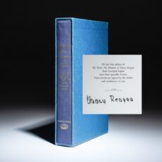 Signed limited edition of My Turn: The Memoirs of Nancy Reagan.