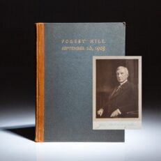 Limited edition of a Visit to Mr. John D. Rockefeller by Neighbors and Friends at Forest Hill, signed by John D. Rockefeller.