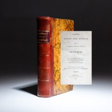 First edition of A Voyage Round the World by William Ruschenberger, published in Philadelphia in 1838.