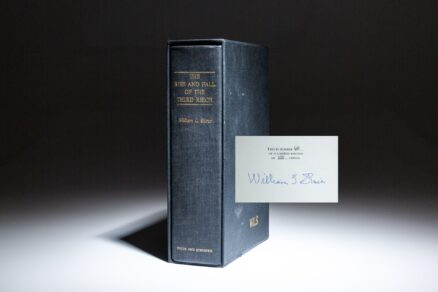 Deluxe limited edition of The Rise and Fall of the Third Reich, signed by the author. The only known copy to appear on the public market.