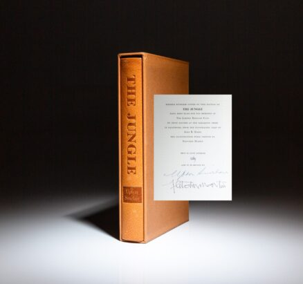 From the Limited Editions Club, The Jungle by Upton Sinclair, signed by the author and illustrator.