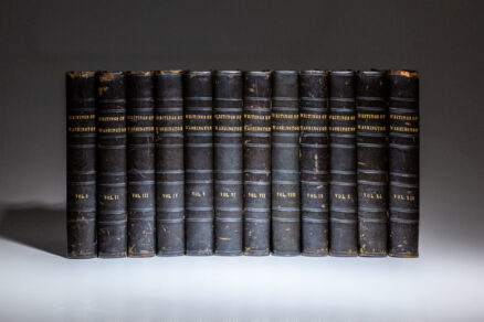 The Writings of George Washington by Jared Sparks, the first edition, first issue.
