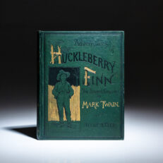 First edition, first issue of Adventures of Huckleberry Finn, by Mark Twain.