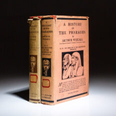 First edition of A History of the Pharaohs by Arthur Weigall, in the scarce first state dust jackets.