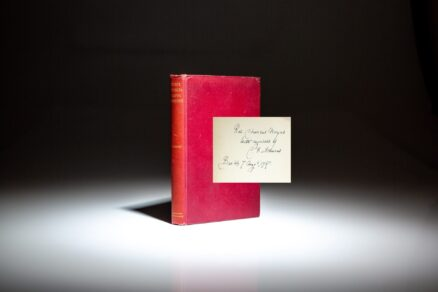 First edition of Three Phi Beta Kappa Addresses by Charles Francis Adams, signed by the author.