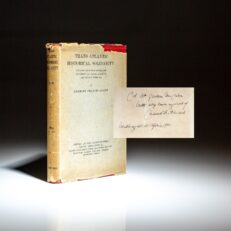 Signed first edition of Trans-Atlantic Historical Solidarity by Charles Francis Adams, Jr., of the Adams political family.