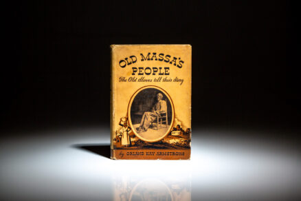 First edition of Old Massa's People by Orland Kay Armstrong.