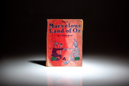 First edition, second state of The Marvelous Land of Oz by Frank L. Baum, complete with 16 full-color illustrations.