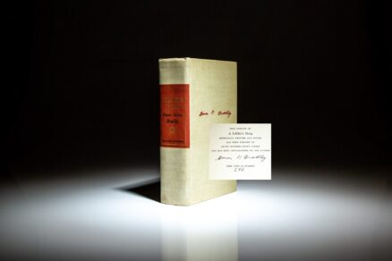 Signed limited edition of A Soldier's Story by Omar N. Bradley.