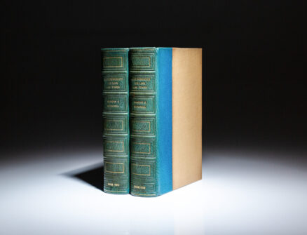 The first two-volume edition of Marlborough: His Life and Times by Winston S. Churchill, in the publisher's deluxe binding.