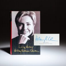 Signed first edition of Living History by Hillary Rodham Clinton.