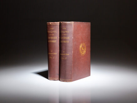First edition of The Rise and Fall of the Confederate Government by Jefferson Davis, published in 1881.