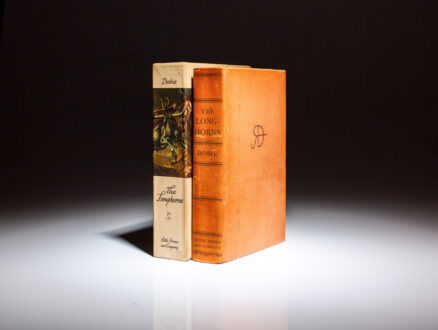 Limited edition of The Longhorns, signed by the author J. Frank Dobie, and the illustrator Tom Lea, known as the Rawhide Edition.